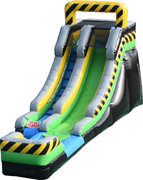 15FT Caution Slide Water Slide