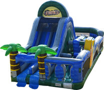 50' Extreme Tropical Obstacle Course With Dry Slide