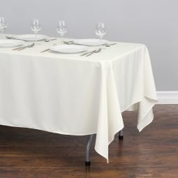 Rectangular Tablecloth Polyester White  60
