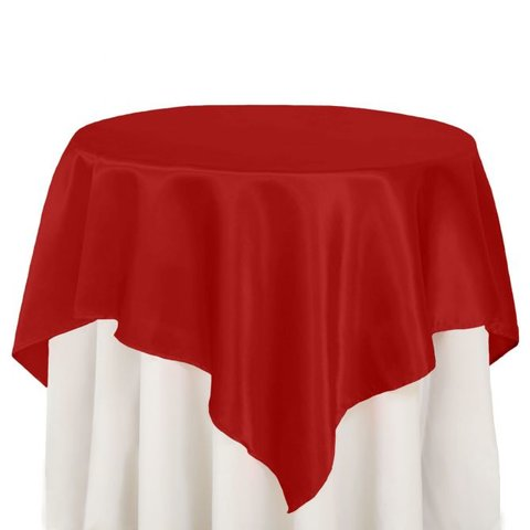 72 in. Square Satin Overlay Red