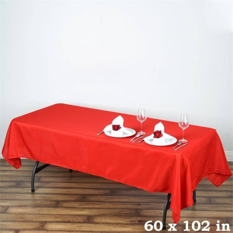 Polyester Tablecloths Red 60x102