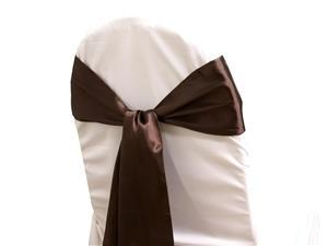 Satin Sash CHOCOLATE