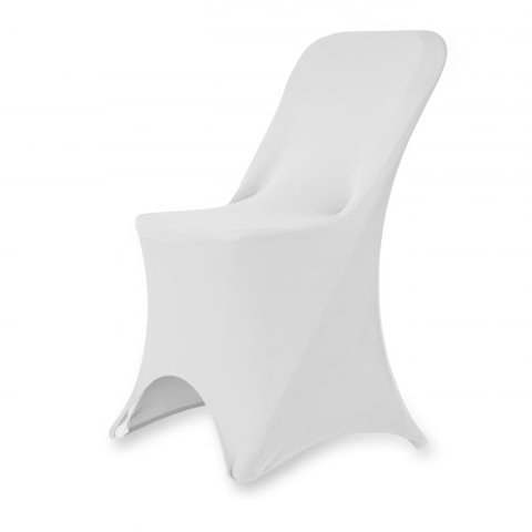 Stretch Folding Chair Cover White