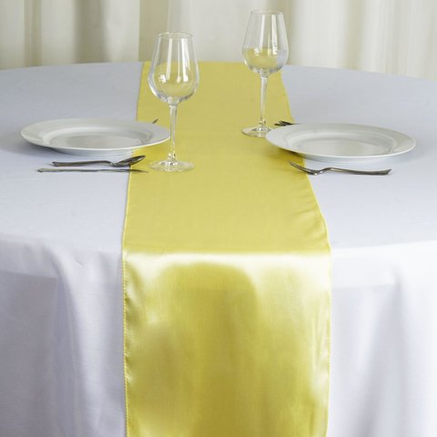 Satin Table Runner Yellow