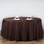 "Round Tablecloth 108"" Brown"