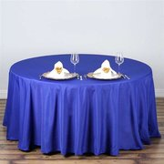 "Round Tablecloth 108"" Royal Blue"