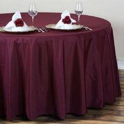 "Round Tablecloth 120"" Polyester Burgundy"