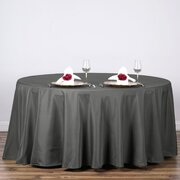 "Round Tablecloth 120"" Polyester Charcol"
