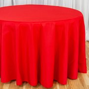 "Round Tablecloth 120"" Polyester Rd"