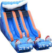 Big Kahuna Dual Lane 15' Dry Slide
