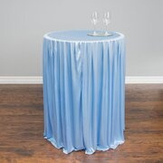 30 In Round cocktail Tableskirt  serenity Blue