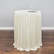 30 in  round  cocktail tableskirt Ivory