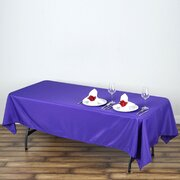 60x102 Polyester Rectangular Tablecloth Purple