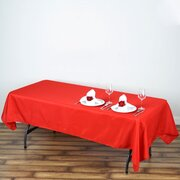 60x102 Polyester Rectangular Tablecloth Red