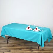 60x102 Polyester Rectangular Tablecloth Turquoise