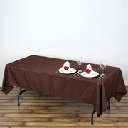 60x102 Polyester Rectangular Tablecloth Brown
