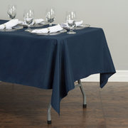 60 x 102 Polyester Rectangular Tablecloth Navy Blue