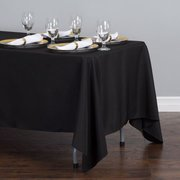 Black Rectangular Tablecloth 70 x 120 Polyester