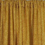Gold Metallic Shiny Spandex Glittering Backdrop 20ft x 10ft (Pipes rented separately)