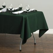 60 X 102 IN. RECTANGULAR POLYESTER TABLECLOTH HUNTER GREEN