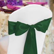 Satin Sash HUNTER GREEN