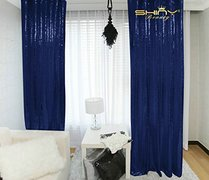 Sheer Sequin Royal Blue 2 Panel Backdrop (pipes Rented Separately)