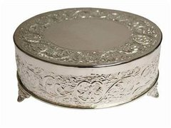 Silver Cake Stand 18""