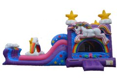 Rainbow Unicorn Jump and Dual Slide XL (Not Available until April 17th)
