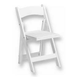 Resin White Chair with Pad