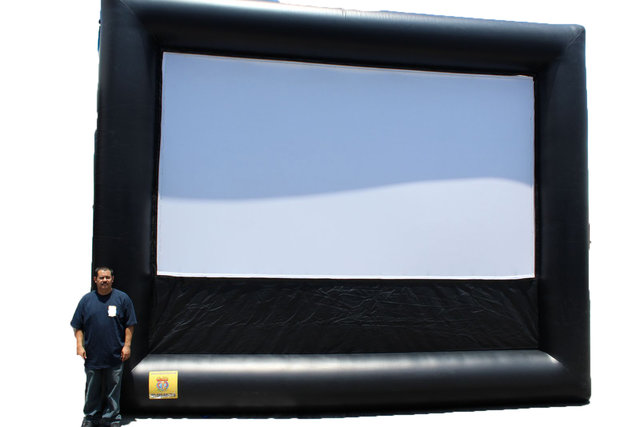 16'x9' Inflatable Movie Screen, Sound System, Projector
