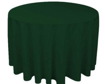 Linen: Green Round Tablecloth 120