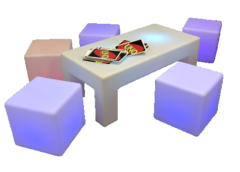 LED Package #1 (1 LED Center Table, 4 LED Cubes)