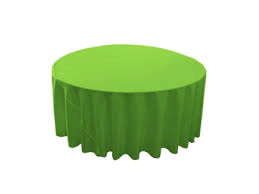 Linen: Lime Green Round Tablecloth 120