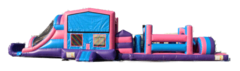 50' Pink Obstacle Course Modular 13'x50'