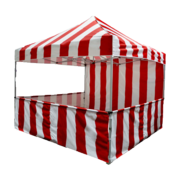 Carnival Booth 8'x8' with side skirts