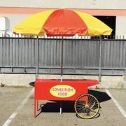 Concession Food Cart with Umbrella