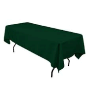 "Linen: Dark Green Rectangular Tablecloth 60""x108"""