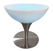 "LED Chrome Round Lounge Table 32""x22"""
