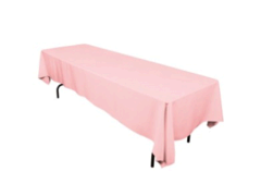 "Linen: Pink Carnation Rectangular Tablecloth 60""x108"""