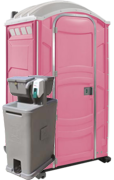 Portable Restroom Pink with Sink