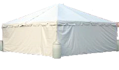 20' Side Solid Frame Tent Wall (1 wall)