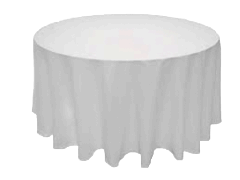 Linen: White Round Tablecloth 108""