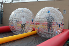 2 Zorb Balls with Dual Lane Race Track 20