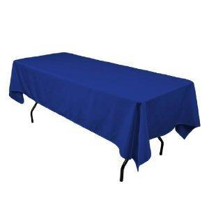 Linen: Royal Blue Rectangular Tablecloth 60