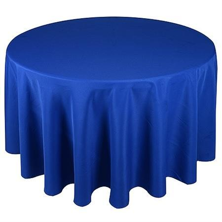 Linen: Royal Blue Round Tablecloth 108