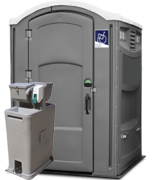 Portable Restroom Handicap Gray with Sink