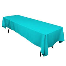 Linen: Turquoise Rectangular Tablecloth 60
