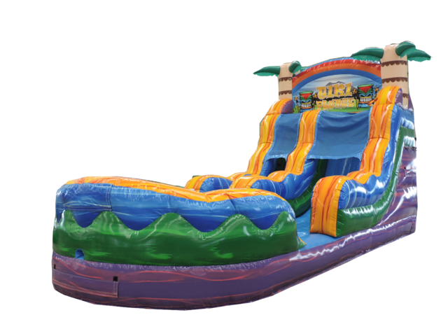 17' Tiki Plunge Water Slide 502 13'x30'