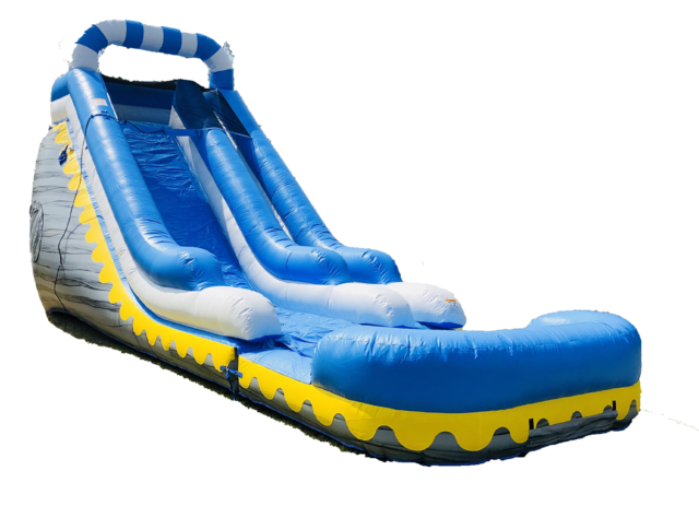 21' Gray Marbel Water Slide 505 13'x36'