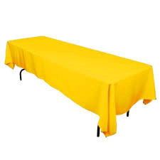Linen: Yellow Rectangular Tablecloth 60